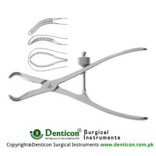Repositioning Forcep With Tread Fixation Stainless Steel, 17 cm - 6 3/4""