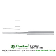 "Hibbs Bone Osteotome Stainless Steel, 24.5 cm - 9 3/4"" Blade Width 13 mm"