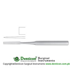 "Hibbs Bone Osteotome Stainless Steel, 24.5 cm - 9 3/4"" Blade Width 19 mm"