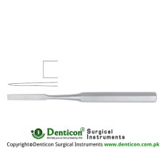 "Hibbs Bone Osteotome Stainless Steel, 24.5 cm - 9 3/4"" Blade Width 32 mm"