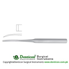 "Hibbs Bone Osteotome Curved Stainless Steel, 24.5 cm - 9 3/4"" Blade Width 6 mm"