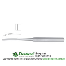 "Hibbs Bone Osteotome Curved Stainless Steel, 24.5 cm - 9 3/4"" Blade Width 13 mm"
