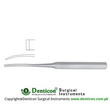 "Hibbs Bone Osteotome Curved Stainless Steel, 24.5 cm - 9 3/4"" Blade Width 19 mm"