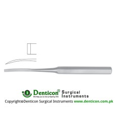 "Hibbs Bone Osteotome Curved Stainless Steel, 24.5 cm - 9 3/4"" Blade Width 32 mm"