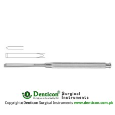 "Bone Osteotome Stainless Steel, 17 cm - 6 3/4"" Blade Width 4 mm"