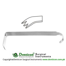 "Hibbs Retractor Stainless Steel, 23.5 cm - 9 1/4"" Blade Size 20 x 50 mm"