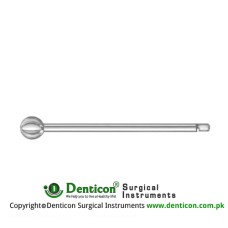 Doyen Spherical Burr Short Borchardt Shaft Stainless Steel, Diameter 6.0 mm Ø
