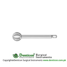 Doyen Spherical Burr Short Borchardt Shaft Stainless Steel, Diameter 12.0 mmØ