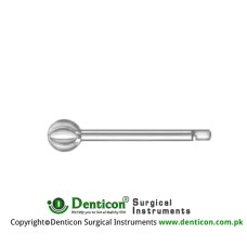 Doyen Spherical Burr Short Borchardt Shaft Stainless Steel, Diameter 16.0 mm Ø