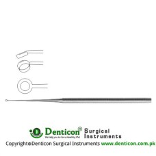 Buck Ear Curette Fig. 4 - Angled - Sharp Stainless Steel, 17 cm - 6 3/4""