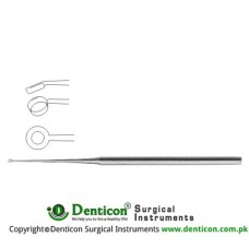 Buck Ear Curette Fig. 3 - Angled - Sharp Stainless Steel, 17 cm - 6 3/4""