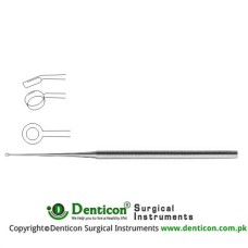Buck Ear Curette Fig. 2 - Angled - Sharp Stainless Steel, 17 cm - 6 3/4""