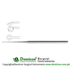 Buck Ear Curette Fig. 1 - Angled - Sharp Stainless Steel, 17 cm - 6 3/4""