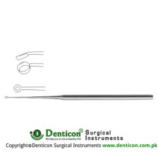 Buck Ear Curette Fig. 000 - Angled - Sharp Stainless Steel, 17 cm - 6 3/4""