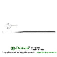 Buck Ear Curette Fig. 2 - Straight - Sharp Stainless Steel, 17 cm - 6 3/4""