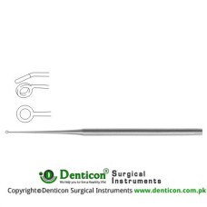 Buck Ear Curette Fig. 4 - Angled - Blunt Stainless Steel, 17 cm - 6 3/4""