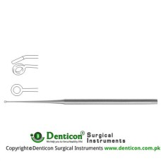 Buck Ear Curette Fig. 2 - Angled - Blunt Stainless Steel, 17 cm - 6 3/4""