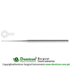 Buck Ear Curette Fig. 4 - Straight - Blunt Stainless Steel, 17 cm - 6 3/4""